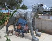 Best Friend (Big Dog Sculpture with Porchswing)