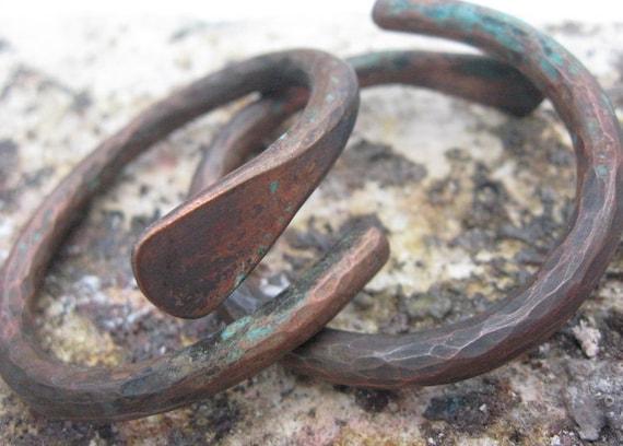 Gauged Copper Hoop Earrings