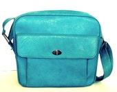 Vintage Blue Samsonite Silhouette Travel Bag - Pan Am Style Shoulder Bag