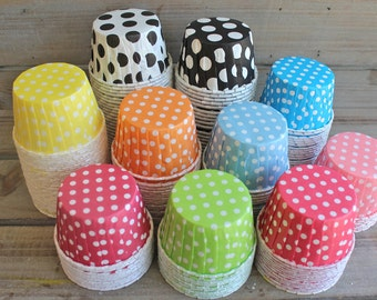 Polka Dot Candy/Baking Cups- You Pick Your Color