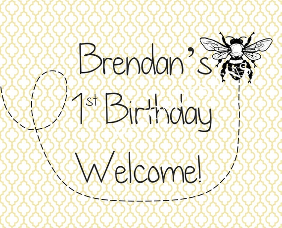 Printable Welcome Sign- Baby Bee by Bloom