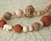 Spicy India. Crochet beads necklace. Teething necklace.