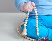 Milk mama nursing necklace,wooden beads  teething toy.