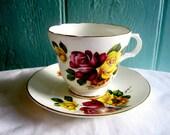 Vintage Tea Cup Tea Set Teacup English Rose Tea cup Vintage Bone China Cup and Saucer UK English Vintage Shabby Chic Vintage Homeware