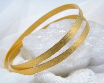 Gold bangle  Elegant bracelet handmade bracelet