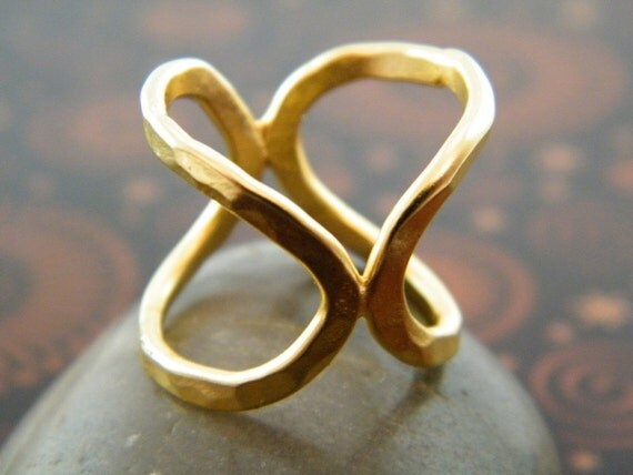 Infinity ring gold statement ring oval gold ring