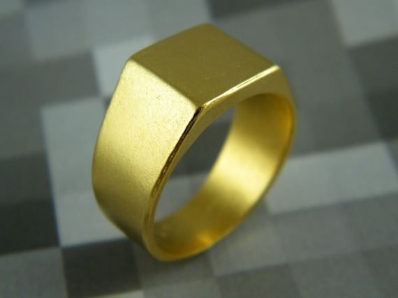Square signet ring mens signet ring personalized mens ring Unisex ring
