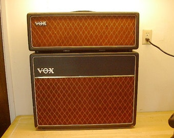 Early 60's Vox AC30 and 2x12 Extension cab speaker