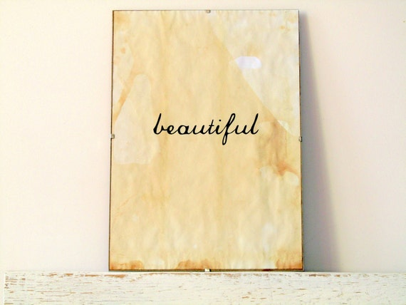 Wall Decor, Poster, Sign - Beautiful