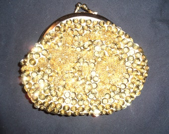 Gold sequined change purse