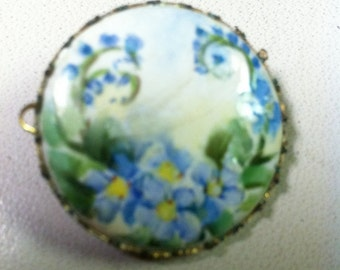 Vintage Hand Painted Costume Pin