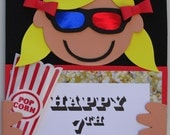 Movie Party Door Sign - Birthday Party, Party Decoration, Personalized Sign