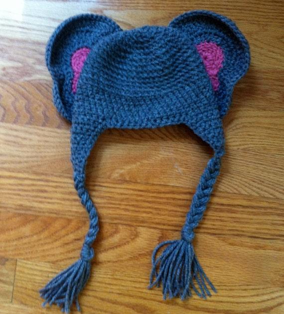 crochet infant elephant hat