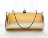 VINTAGE Metallic Gold LADY Clutch