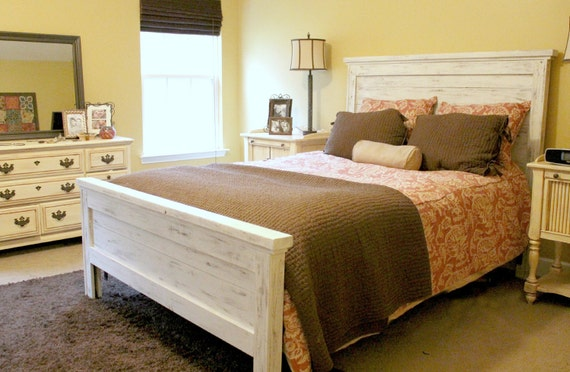 Items Similar To Queen Distressed Headboard And Footboard