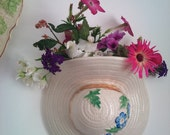 Wall Mounted Pottery Hat Vase