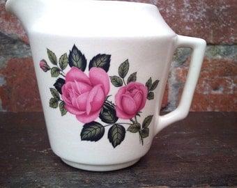 Pink roses Milk/Cream Jug