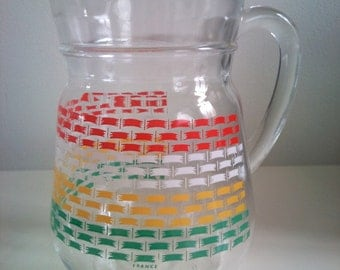 1970's/80's Medium Patterned Glass Jug