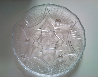 Vintage Glass Star Cake Stand