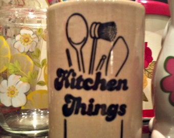 1970's 'Kitchen Things' Utensils storage Pot
