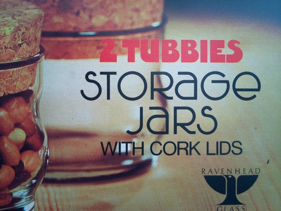 2 x 1970's 23cl 'Tubbies' Storage Jars