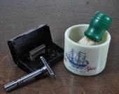 Vintage Safety Razor Shaving Set.
