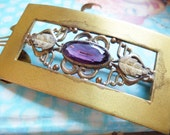 Antique George L. Paine Amethyst Brooch