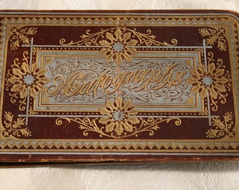 Antique 1800's Autograph Book