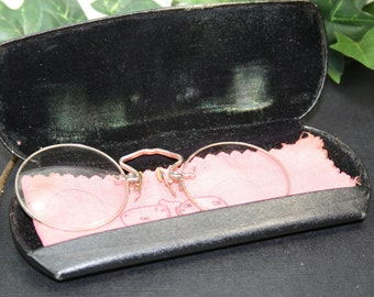 Antique Silvertone Glasses with Case