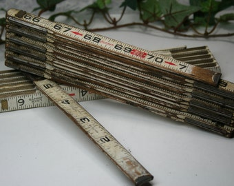 Lufkin Vintage Folding Ruler- 2 pc Lot