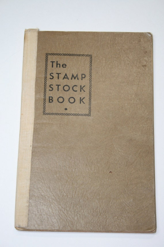 Stamps- Vintage Stamp Stock Book with Stamps