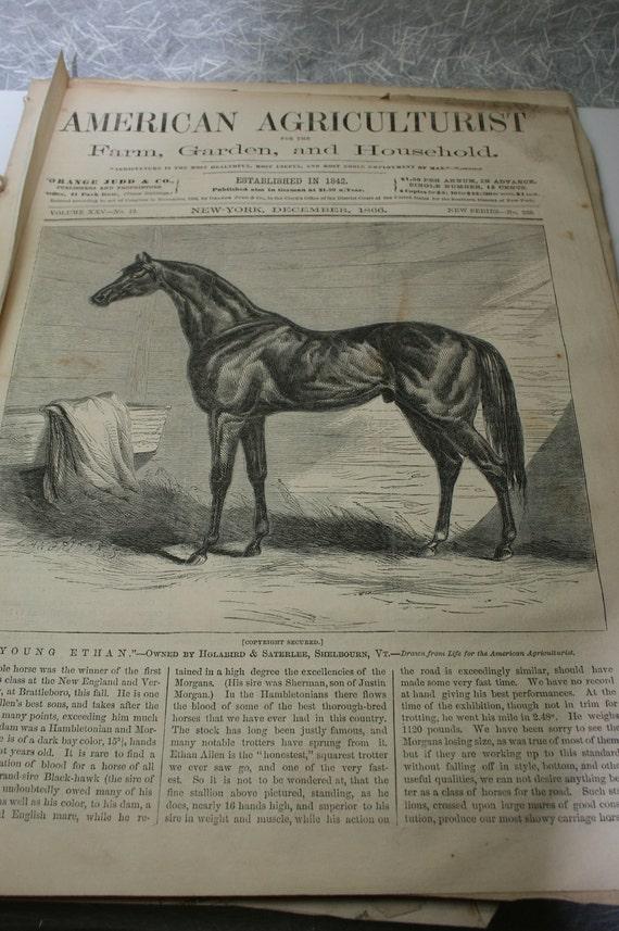 Ephemera - American Agriculturist- December 1866- 17 pgs