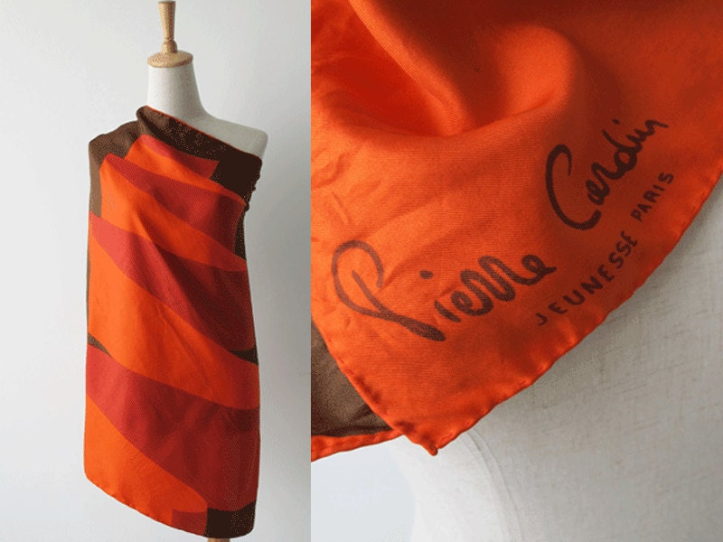 Vintage Pierre Cardin Silk Scarf by erlinasvintage on Etsy Vintage Silk Scarves Australia