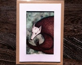 SPRING SALE - Hand illustrated Forest Spirit greeting card