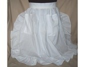 PLUS SIZE 3X Ruffled Half Apron white- solid colors available