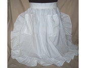 Plus size 1X  Ruffled Half Apron white or gingham check fabric