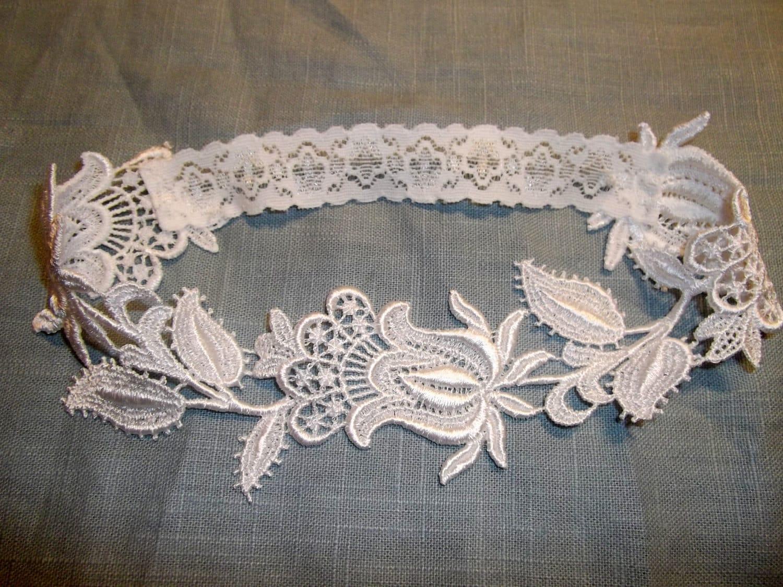 Floral Venise Lace Bridal Garter