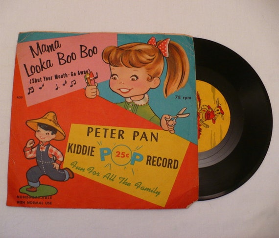 Little Goldie Goldfish Mama Looka Boo Boo Shut You Mouth Peter Pan Records Kiddie Record and Sleeve 78 459