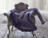 Lilac Cashmere Long Cardigan (sweater) : for Blythe.