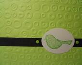 Lime Green Blank Birdie Card