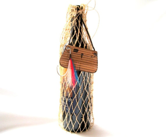 Fishing Net Wine Gift  Bag - Fly and Creel