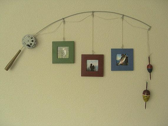 Fishing Photo Frame - Metal Silver - 3 Frames
