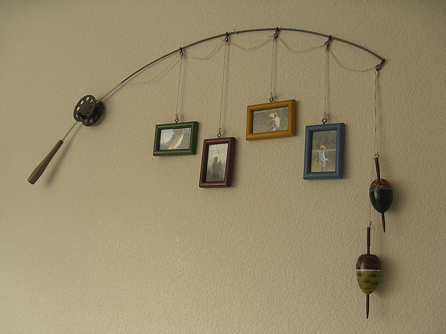 Fishing pole decor 28 images home recycled home fish for Fishing pole decor
