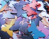 500 colorful butterflies, cardboard punches, rainbow colors