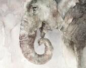 Elephant Greeting Card - Blank - Greeting Card - Animal Watercolor