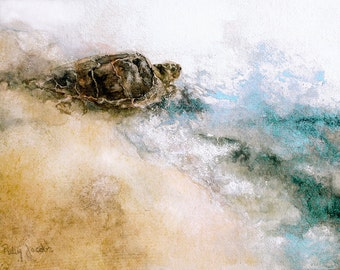 """Watercolor Art Print - """"Mr. T Goes To Sea"""""""