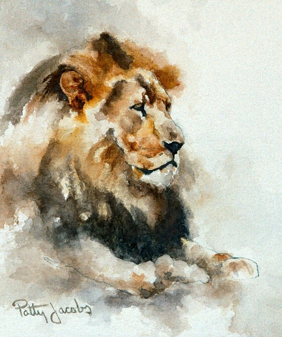 """Watercolor Art Print - """"His Majesty"""""""