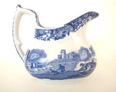 Mid-Century Spode's Italian Blue & White Small Pitcher ON SALE
