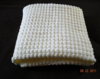 Antique White Baby Blanket