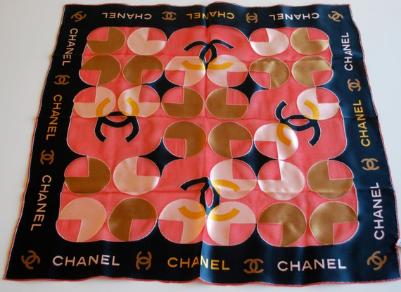 Vintage CHANEL Silk blend Scarf in Rose and Pink